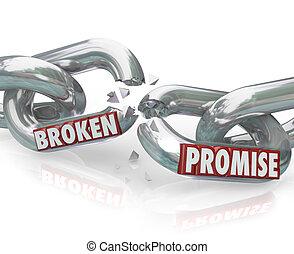 törött, ígér, lánc csukló, törő, hűtlen, megszegés