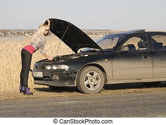 törött, autó