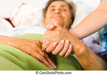 törődik, ápoló, hatalom kezezés