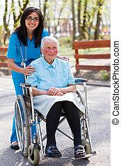 törődik, különleges, öregedő, adottság
