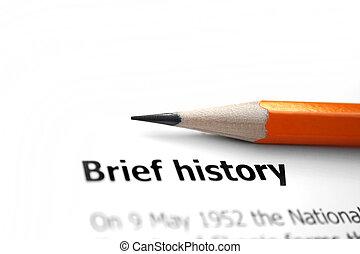történelem, rövid
