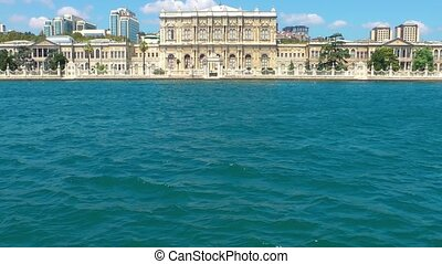történelmi épület, közel, a, tenger