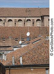 történelmi, középkori, tető