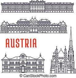 történelmi, sightseeings, épületek, ausztria