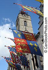 történelmi, zászlók