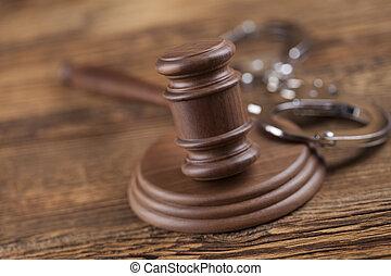 törvény, és, igazságosság, fogalom, jogi, kód