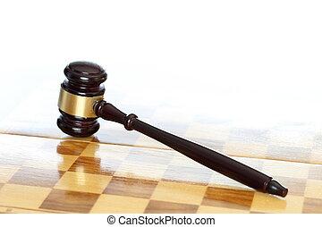 törvény, és, parancs, noha, árverezői kalapács