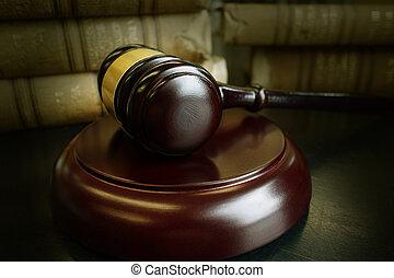 törvény beír, és, árverezői kalapács