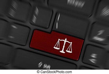 törvény, jelkép, (red, key)