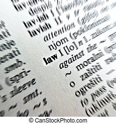 törvény, szó, szótár