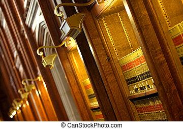 törvénykönyv, könyvtár