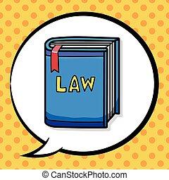 törvénykönyv, szórakozottan firkálgat