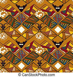 törzsi, seamless, struktúra, elvont, vektor, il, afrikai, style.