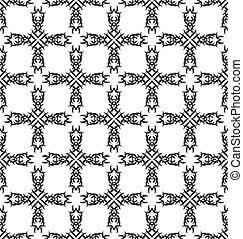törzsi, vektor, pattern., seamless