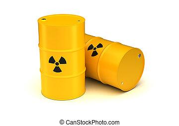 tønder, affald, radioaktive, gul