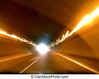 túnel, abstratos