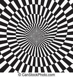 túnel, arte, óptico, infinito