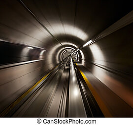 túnel, através