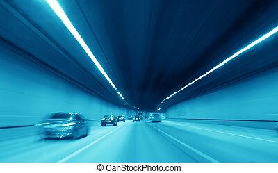 túnel, carretera