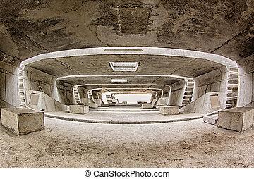túnel, construcción, arquitectura