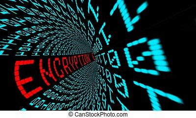 túnel, encryption, matriz