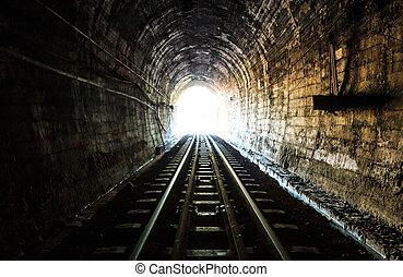 túnel, ferrocarril