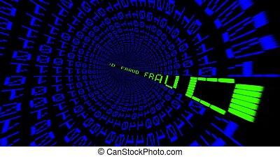 túnel, fraude, matriz