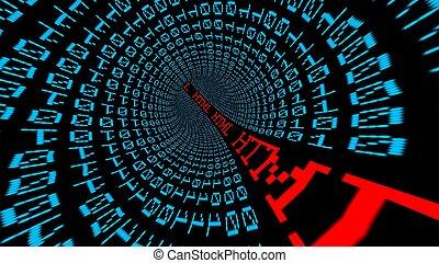 túnel, html, dados
