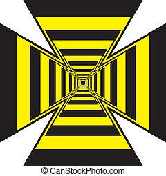 túnel, ilusão óptica