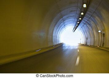 túnel, internacional, grecia, egnatia, carretera
