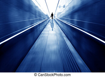 túnel, peão