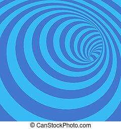 túnel, resumen, torcido, ilustración, azulado, vector,...