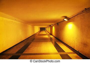 túnel, senda