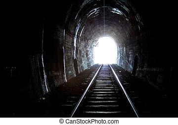 túnel, trem