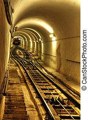 túnel, tren