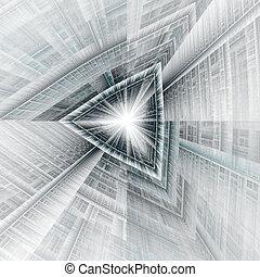 túnel, triángulo