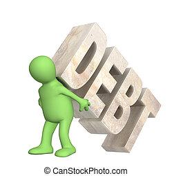 túsz, adósság