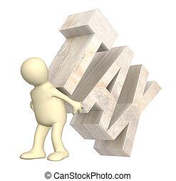 túsz, adót kiszab