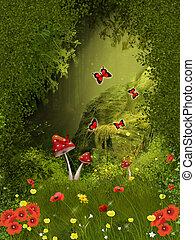 tündér, erdő