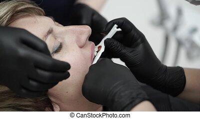 türelmes, alatt, fogászati, klinika