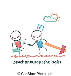 türelmes, ellenőriz, idegek, psychoneuropathologist
