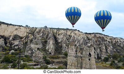 türkei, fliegen, natur, baloon, wunder, 2, cappadocia, fee,...