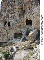 türkei, museum, luft, goreme, rgeöffnete, cappadocia