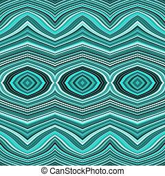 türkiz, pattern., megvonalaz, seamless, hullámos, fehér