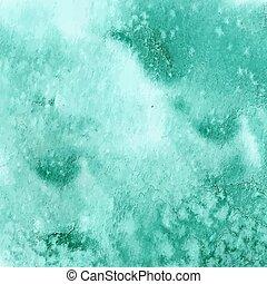 türkiz, zöld, vízfestmény, struktúra