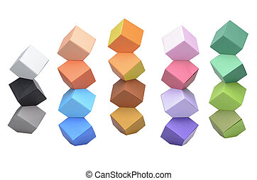 türme, origami, columbus