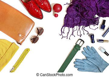 tęcza, clothing., zbiór