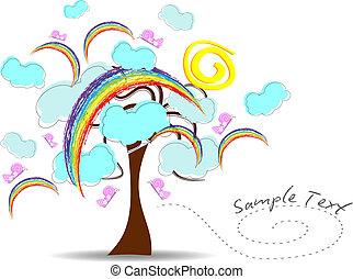 tęcza, drzewo