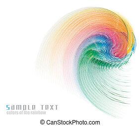 tęcza, handlowy, widmo, kolory, tło, karta
