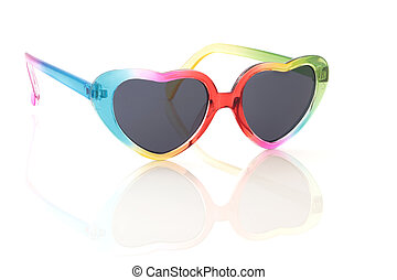 tęcza, sunglasses